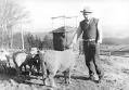 František Fišer s ovečkami