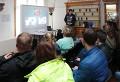 Mgr. Pavel Bokr při prezentaci (multitasking ovšem nebyl na programu)