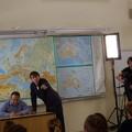 Pan Moravec s režisérem pořadu Mojmírem Kučerou