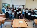 Předávání diplomů DELF a návštěva ředitele Francouzské aliance Pardubice